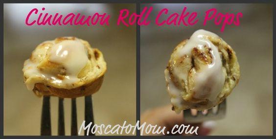 Cinnamon Roll Cake Pops