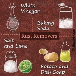 Ways to clean rust off metal