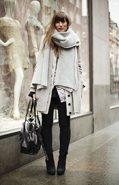 Layers of cozy knits, in my favorite neutral palette!