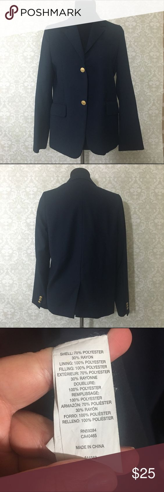 Boys navy blue blazer Fresh from the dry cleaner perfect for school uniforms or holidays, dark navy blue good used condition, no stains or tears. Buttons are gold. Offers welcome, bundle and save! Children's Place Jackets & Coats Blazers