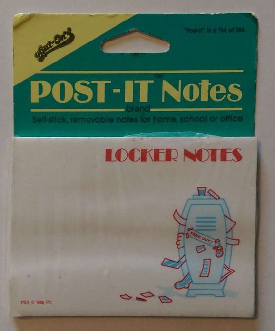 LOCKER NOTES Sticky Notes Post it Notes 40 Sheets #PostIt