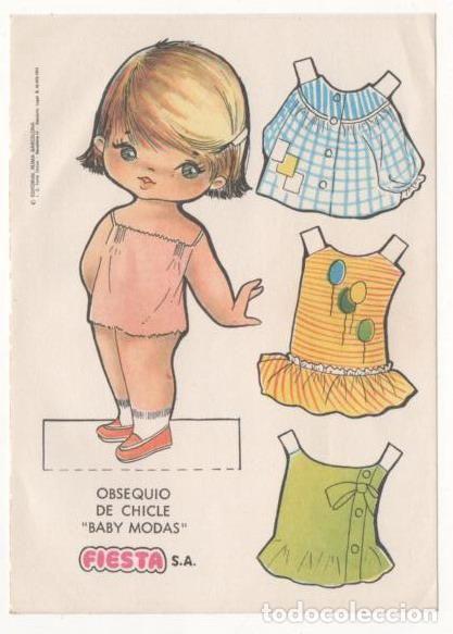 (ALB-TC-7) RECORTABLE OBSEQUIO DE CHICLE BABY MODAS DE FIESTA - Foto 1