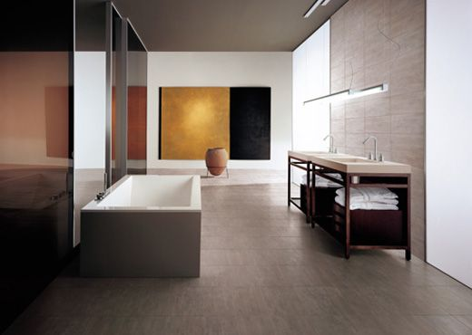 Een prettige leefruimte, hierdoor meer een kamer dan een badkamer