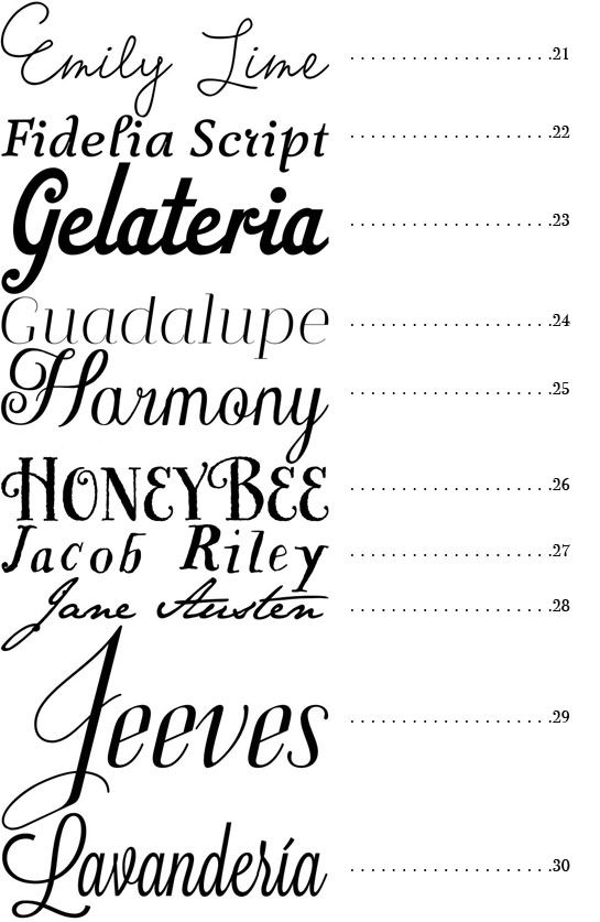 50 great fonts for your wedding DIY projects