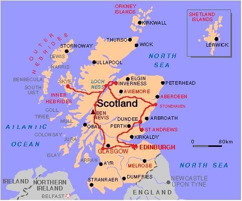 Resultado De Imagen De Mapa De Escocia Para Imprimir Escocia