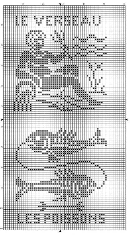 Zodiac ~ Pisces and Aquarius Needle Arts Filet Charts ...