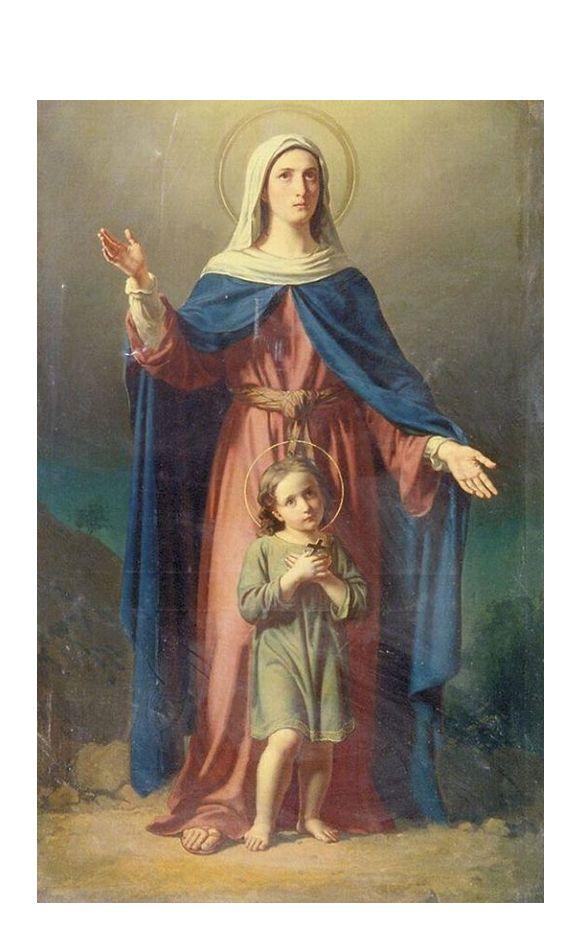 Bajo tu amparo nos acogemos Santa Madre de Dios, no desprecies nuestras súplicas, antes bien líbranos de todo peligro, Virgen gloriosa y bendita.