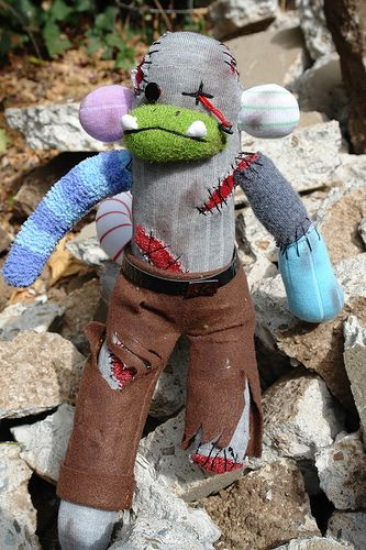 Zombie Sock Monkey.  The details are incredible.