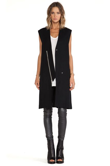 The Sleek Fall Staple You Can Start Wearing Now #refinery29 http://www.refinery29.com/long-vests-fall#slide8: