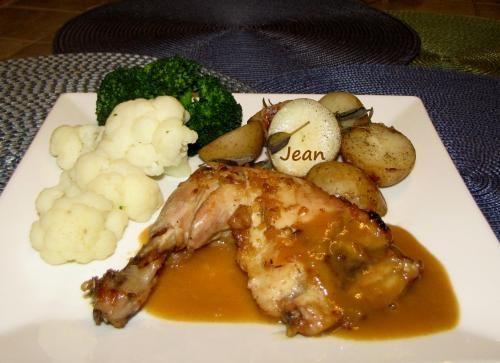 marinade sauce ou glace de cuisson pour poulet au four ou