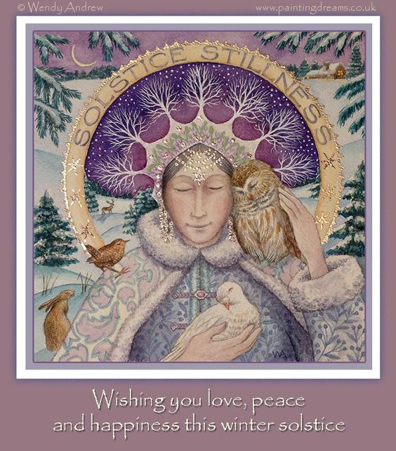 Wishing you a blessed and beautiful solstice! —: