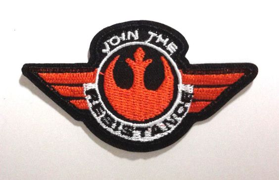 """Star Wars """"Join The Resistance"""" Force Awakens 3"""" Patch Free Swpa FA 05 
