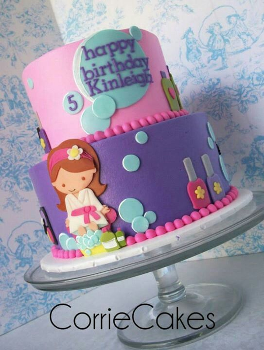 Best Girl Spa Party Images On Pinterest Spa Cake Girl Spa - Spa birthday party cake