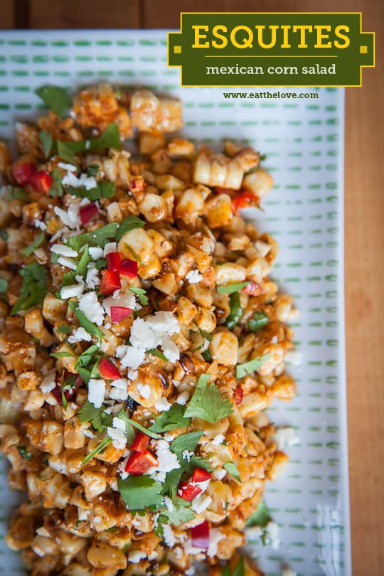 Esquites, or Mexican Corn Salad. An easy, made from scratch, recipe by Irvin Lin of Eat the Love. www.eatthelove.com: