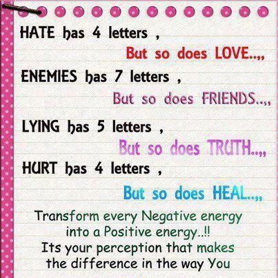 HATE Has 4 Letters But So Does LOVE ENEMIES Has 7 Letters