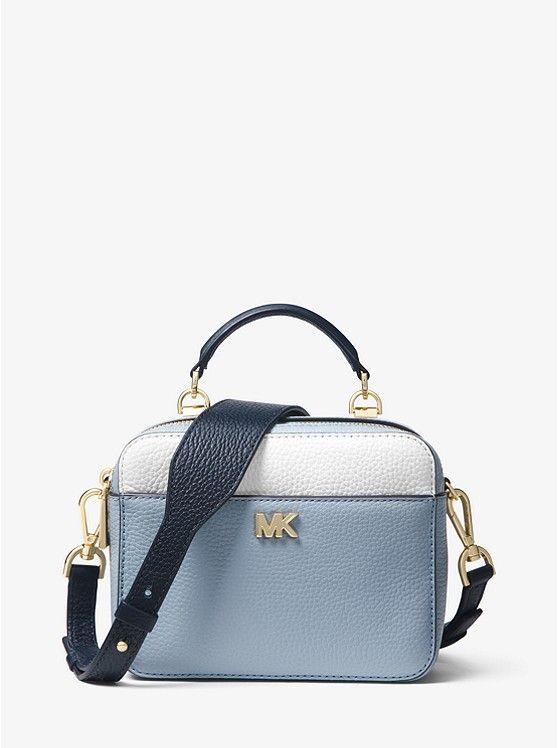 Mott Mini Color Block Pebbled Leather Crossbody Michael Kors Handbags Michael Kors Leather Crossbody Crossbody Bag
