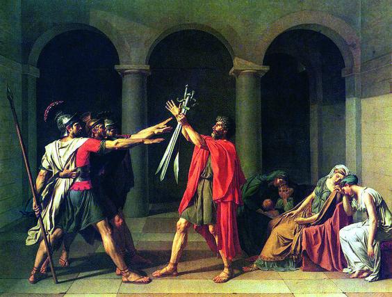 Néo-classicisme - Jacques Louis David - Le serment des Horaces