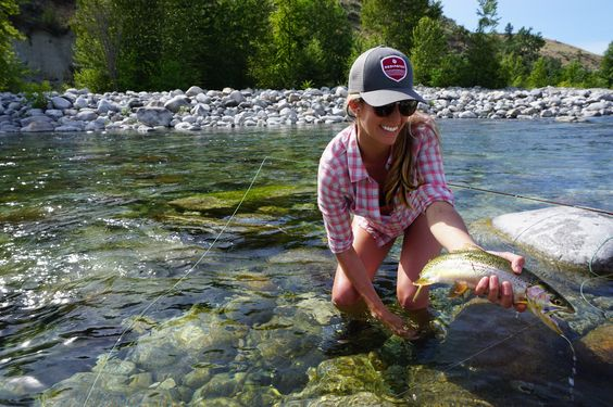 Starting from scratch, she has been teaching herself how to fly fish by reading…