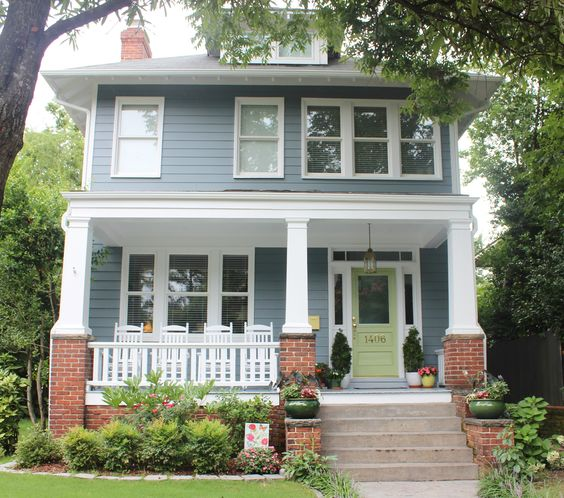 1922 American Foursquare Norfolk Va Interesting Home Exteriors Pinterest Exterior Colors