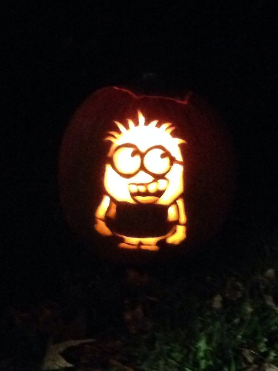 Minion pumpkin stencil from zombie pumpkins awesome