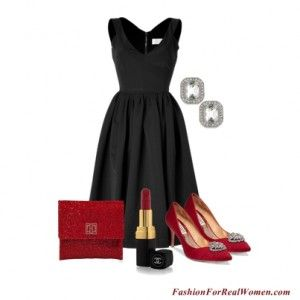 Little Black dress with red accessories - perfect for the holidays ...