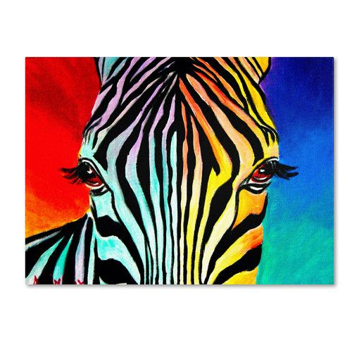 """Found it at AllModern - """"Zebra"""" by DawgArt Painting Print on Wrapped Canvas"""