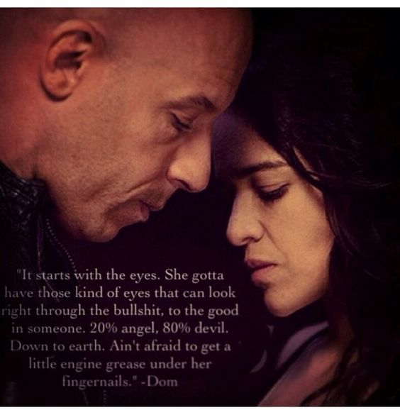 Fast 7 Quotes About Love : Dom & Letty Dom / House Pinterest I wish