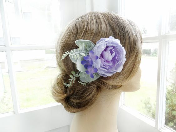 purple hair clip purple hair comb lavender hair by thehoneycomb