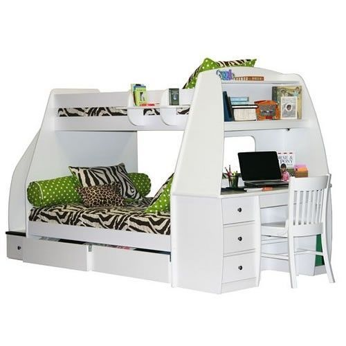 Bunk Bed With Stairs And Slide Foter Zebraprintbedding Bunk