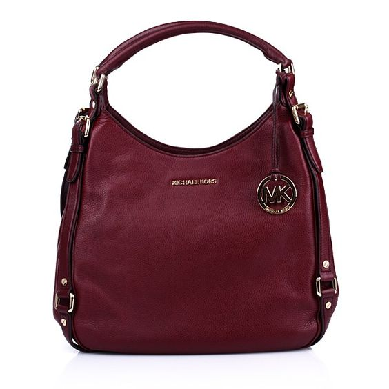 We cannot get enough of Michael Kors' trendy bags for fall!    Michael Kors Bedford LG Shoulder Tote Bordeaux — Fashionette
