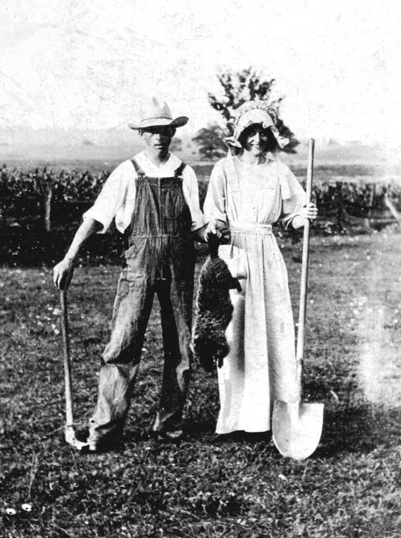 Early Version of American Gothic Photo