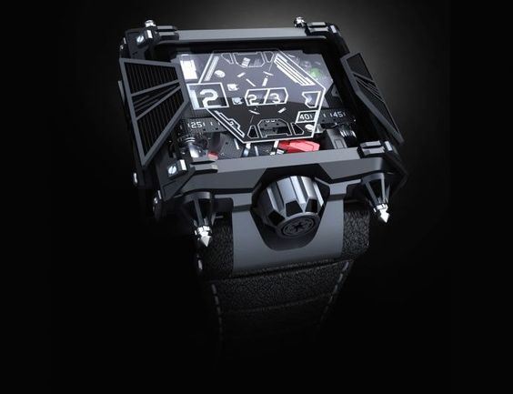Devon's $28,500 Star Wars Watches Resemble the Iconic TIE Fighter Jet #watches trendhunter.com