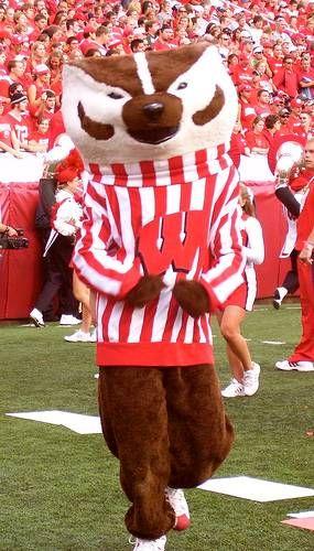 Wisconsin Badgers Football mascot Bucky Badger
