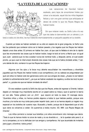 """Cuento Corto: """"La vuelta de vacaciones"""" Sobre Los Reyes Magos"""