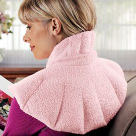 Contoured shoulder heating pad—Finally, someone invented it! For stress!!!! NEED!