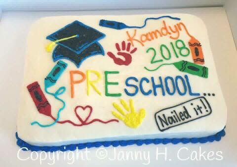 Preschool Graduation Cake Kindergarten Graduation Cake Preschool Graduation Cake Teacher Cakes Preschool graduation sheet cake