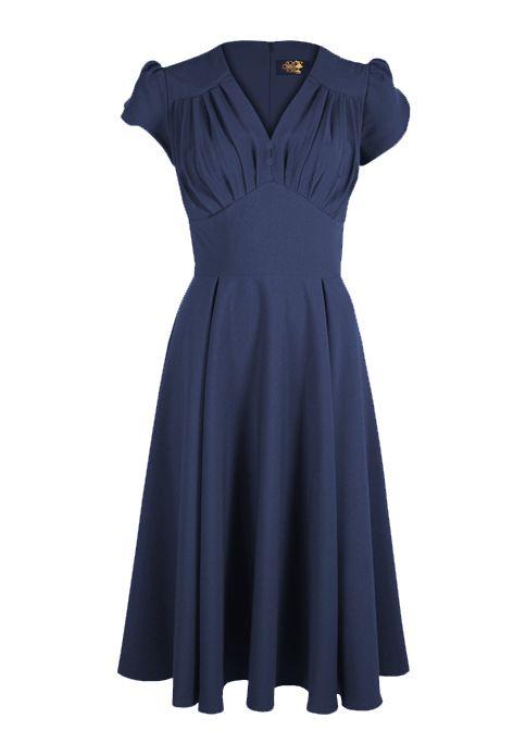 So Foxy Retro 1940s Dress | Love this dress | Simple but beautifully elegant