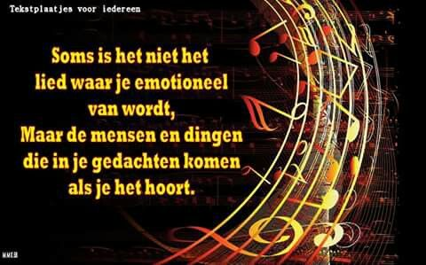 Soms is het niet het lied waar je emotioneel van wordt ...