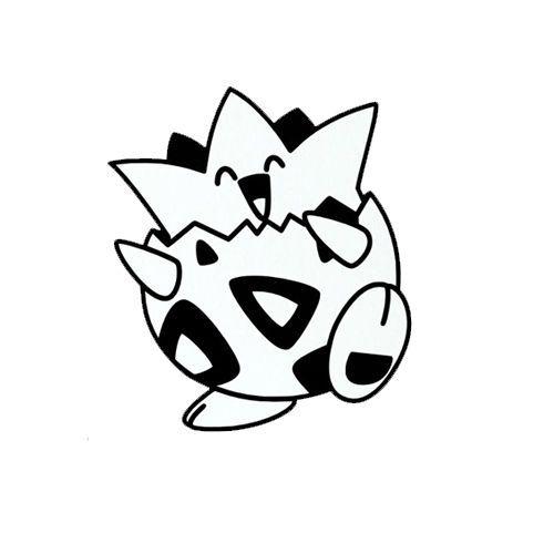 2X POKEMON sticker vinyl decal white