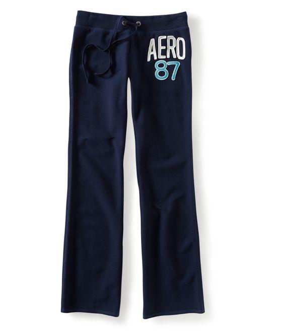 aero patch 87 fit & flare sweat Pants
