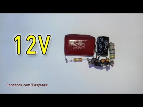 Transformerless Power Supply 220v Ac To 12v Dc Youtube Usb Flash Drive Electronics Projects Electronics Mini Projects