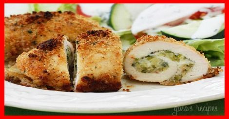 Chicken Rollatini Stuffed with Zucchini and Mozzarella - weight ...