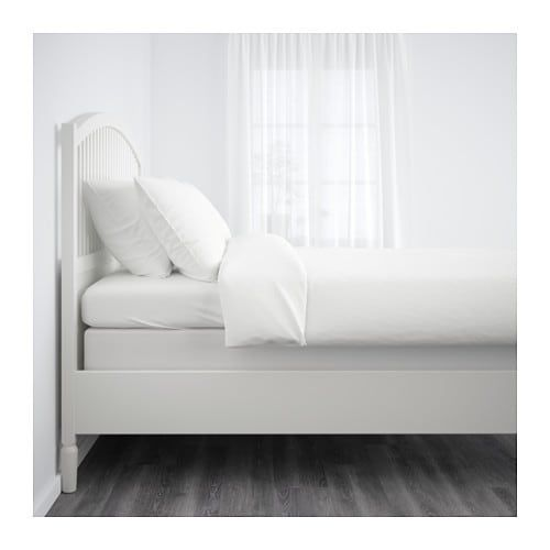 Ikea Us Furniture And Home Furnishings Bed Frame White Bed Frame Steel Bed Frame
