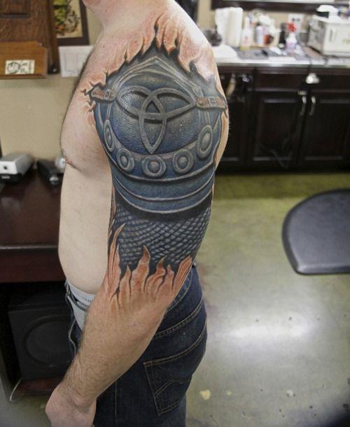 20 Amazing Armor Tattoos for Men (17)