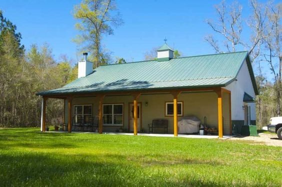 Ken s simple yet beautiful metal home w porch 9 pictures for Beautiful metal building homes