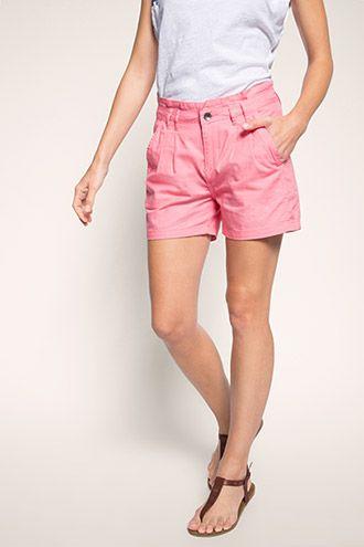 edc - Leichte Shorts aus 100% Baumwolle im Online Shop kaufen