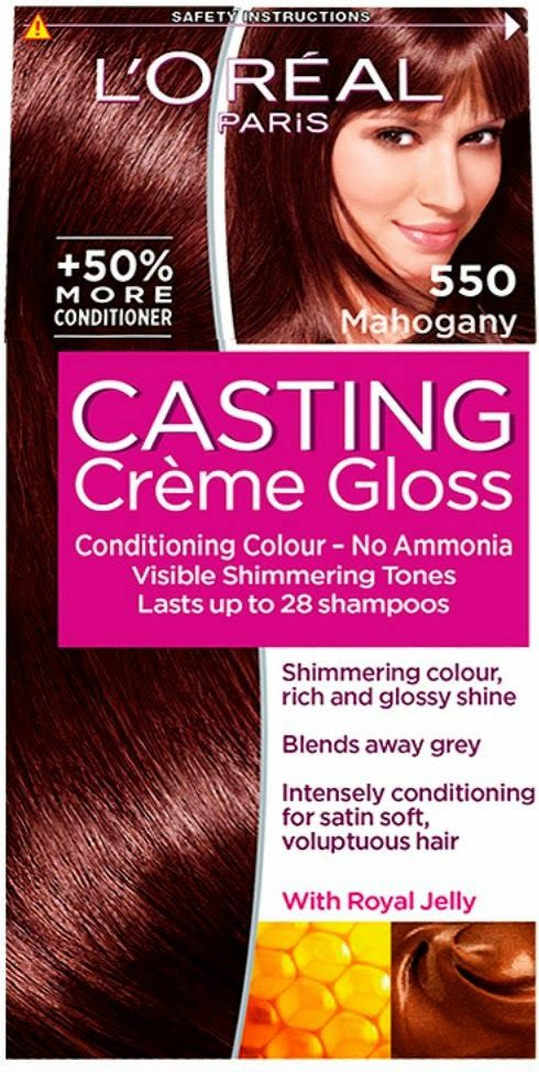 review and results of loreal casting creme gloss in 550 mahogany - Gloss Color L Oral Professionnel