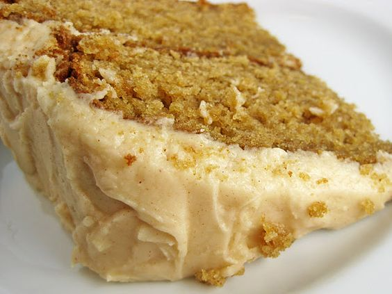 caramel apple layer cake with apple cider frosting.