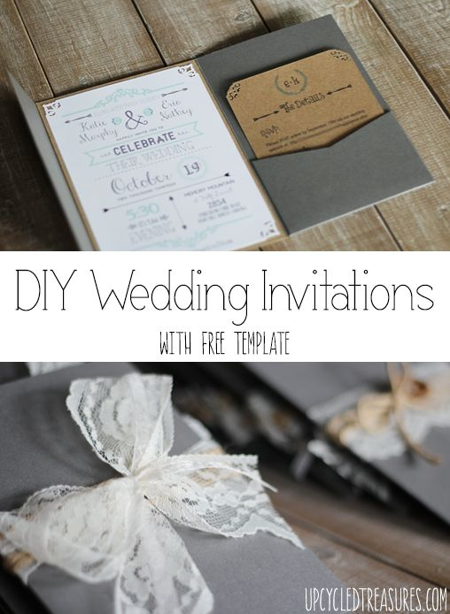 Free wedding invitations pinterest