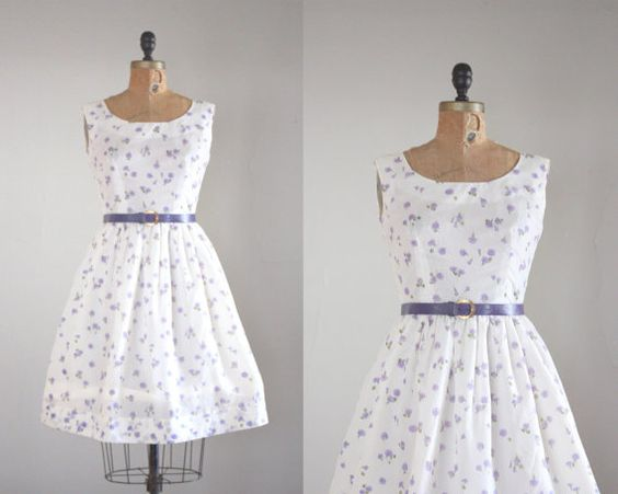 1950s dress  vintage 1950's french lilac party dress by Thrush, $165.00